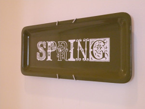 Springing the Tiki Platter || dollar store art