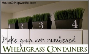 numbered wheat grass decor tins
