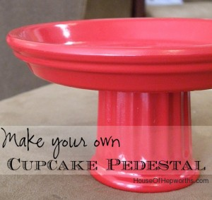 How to make a Cupcake Stand / Decor Pedestal