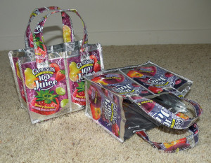 Capri-sun chaos! Little purses for your littlies.
