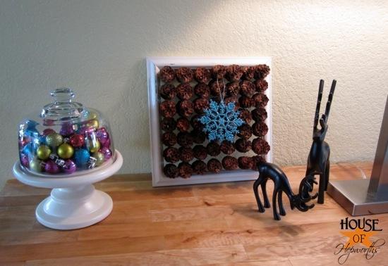 Pinecone framed artwork