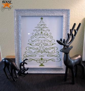 Christmas Tree vinyl gets framed