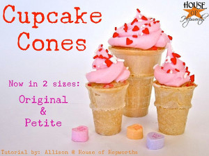 Cupcake Cones: A new Petite Version