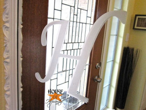 Frosted monogrammed mirror tutorial