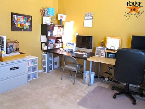 House Tour: Office/Craft/Sewing/Computer Room