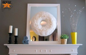 A Big Chunky Plumpy Funky Round Somethin' Somethin' Wreath {coffee filter wreath}