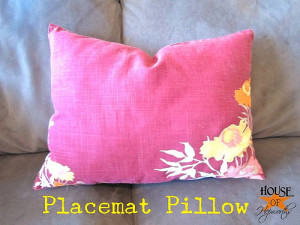 How to make a pillow from a placemat; the easiest DIY sewing project ever