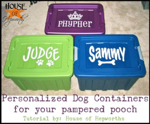 Fit for a {K-9} Princess {or Prince}; stylish food containers for your pampered pooch