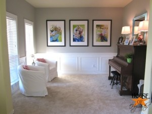 Project 10: Make and frame large family portraits for long neked wall