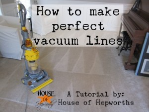 How to create Perfect Vacuum Lines; with a vlog tutorial