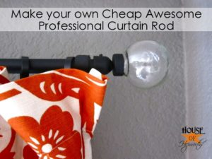 How to make a cheap, awesome, professional Curtain Rod
