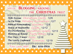 Blogging around the Christmas Tree {8 link parties for you}