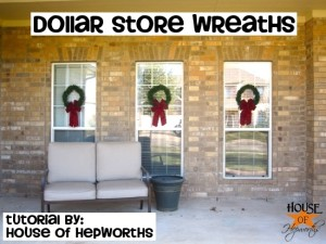 $2 outdoor Holiday wreaths {tutorial}