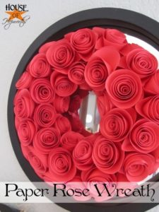 Nothing says {I love you} like a Paper Rose Wreath