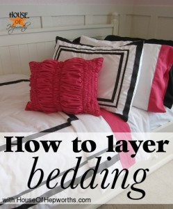 How to layer a bed + a full source list {Bedding Week}
