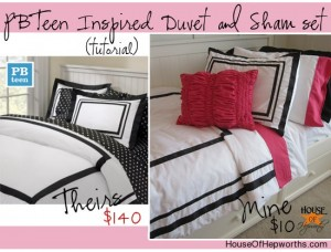 PBTeen inspired DUVET & SHAM tutorial {Bedding Week}