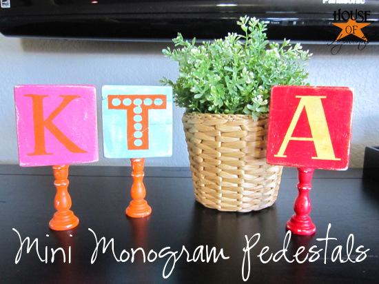 Make your own Mini Monogram Pedestal