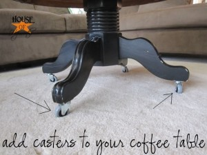 adding casters to furniture; an easy solution to a big problem