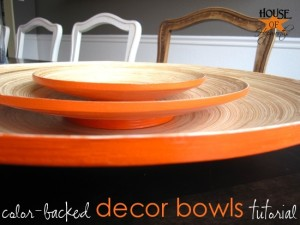 orange color-backed decor bowls tutorial