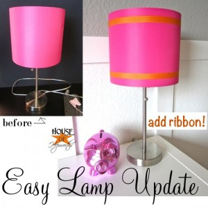 Easy Lamp Shade Update