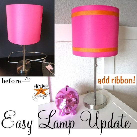 Easy lamp shade update house of hepworths easy lamp shade update aloadofball Choice Image
