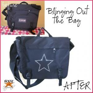Decor with Bling; rhinestone dress & laptop bag tutorial