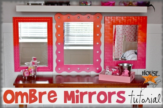Ombre Mirrors Tutorial {pink & orange}