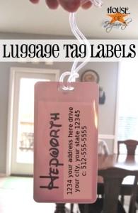 Custom Disney luggage tags (+ a Disney link party)