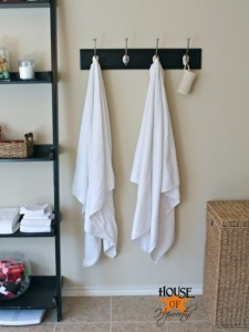 Master bathroom update (new towel hooks)