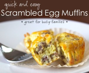 quick and easy Scrambled Egg Muffins {great for busy families}