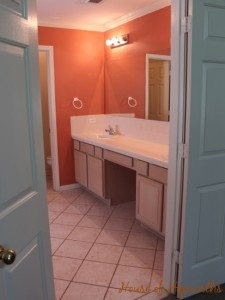 The master bathroom is looking a lot less fishy