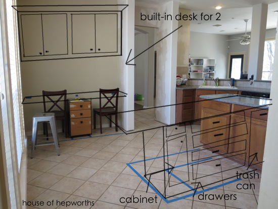 The plans for the new kitchen layout