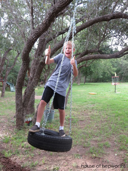 Build a tire swing!