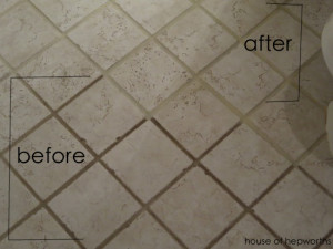 The dirty grout miracle cure
