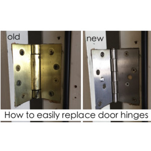 How to easily replace door hinges