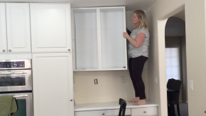 Removing a set of upper cabinets by myself