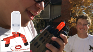 Airsoft gun vs. water bottle rocket launcher || Vlog_24