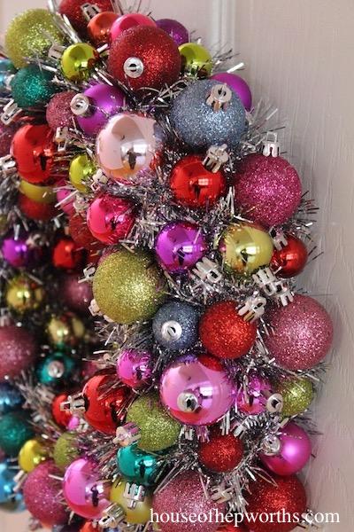 Mini Ornament Wreath {holiday}