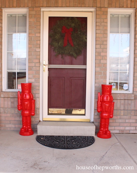 Huge Nutcrackers for your porch