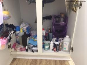 Organizing an under-sink bathroom disaster