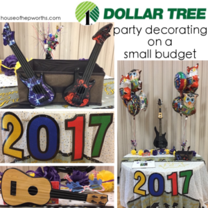 Party decorating on a small budget || dollar store ideas