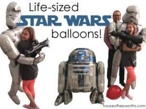 Life-sized STAR WARS balloons! Coolest balloons ever!