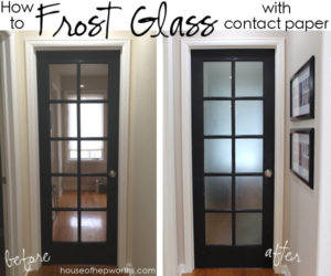How to FROST GLASS with contact paper