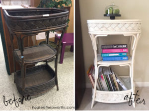 Thrift store BAR CART turned piano music SHELF