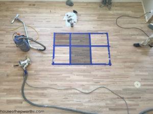 Refinishing hardwood floors, part 3 – staining, mishaps, & final reveal