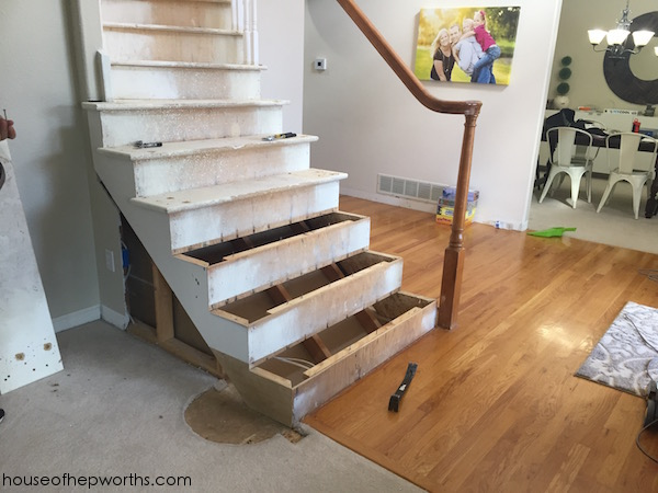 Rebuilding a staircase & framing out a wall