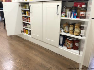 Create custom canned goods storage from IKEA cabinets