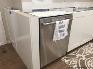 Creating a wrap-around cabinet & moving the dishwasher || IKEA kitchen renovation