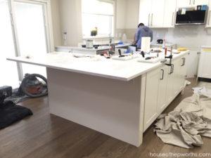 Installing IKEA quartz countertops – Frosty Carrina