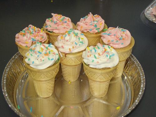 Cakes in cones